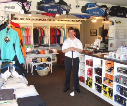 the professional shop of Island Golf Club